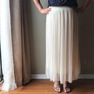 Ethereal Champagne Chiffon Skirt